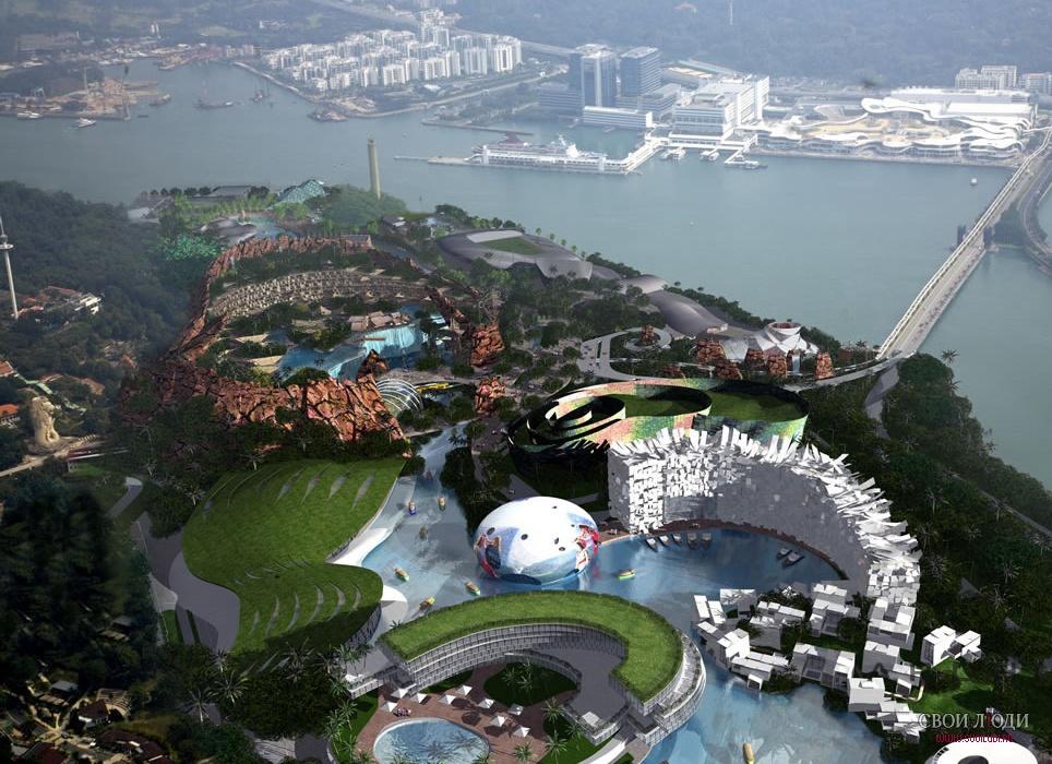 сингапур о сентоза фото архитектура всего вблизи