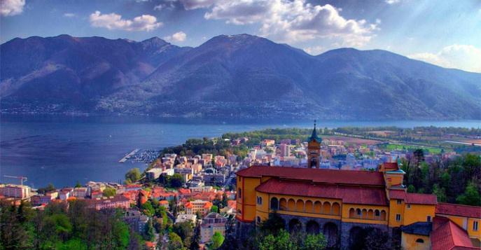 Город Монтрё  Montreux  Швейцария Монтрё