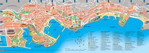 Карта городов Монако
