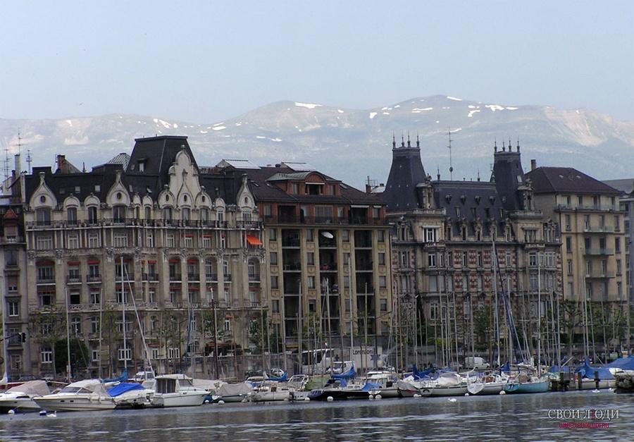 Женева зимой Женева Швей�а�ия Фо�о го�ода женева