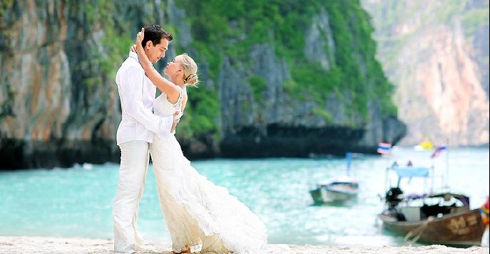Идеальная свадьба на острове в Тайланде Краби