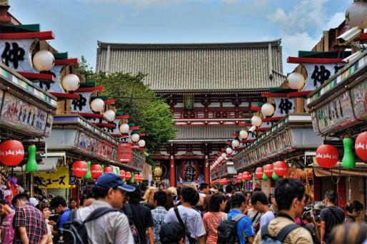 Храм Асакуса Сэнсодзи - Токио, Япония