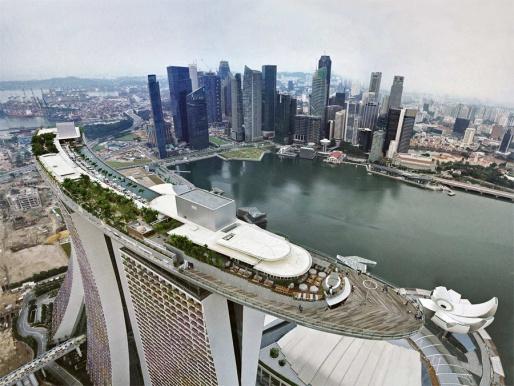 Бухта Marina Bay - Сингапур
